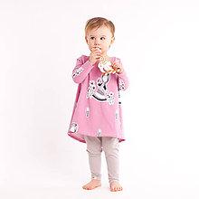 Detské oblečenie - Šaty z bio bavlny - ružové - 10470463_
