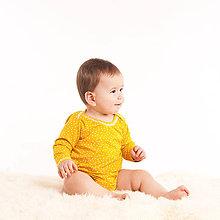 Detské oblečenie - Body z bio bavlny - žlté - 10470478_