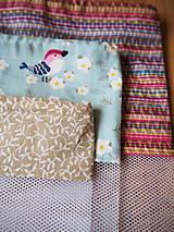Úžitkový textil - Sada vreciek na potraviny (Modrá) - 10470499_