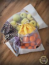 Úžitkový textil - Sada vreciek na potraviny - 10470519_