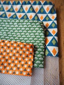 Úžitkový textil - Sada vreciek na potraviny (Oranžová) - 10470495_