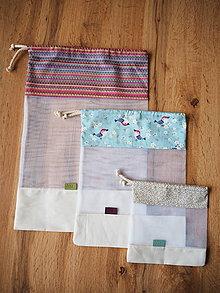 Úžitkový textil - Sada vreciek na potraviny (Modrá) - 10470498_