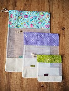 Úžitkový textil - Sada vreciek na potraviny (Fialová) - 10470503_