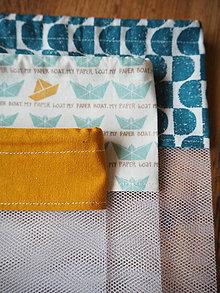 Úžitkový textil - Sada vreciek na potraviny (Žltá) - 10470509_