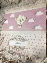 """Papiernictvo - Detský album pre dievčatko """"Lietajúci balón"""" - 10471033_"""