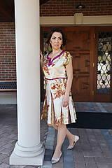 Šaty - Hodvábne mramorové šaty - 10471132_