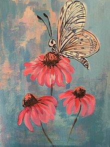 Obrazy - motyyylie:) (echinacea) - 10469776_