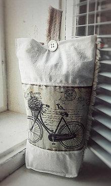 Úžitkový textil - Lněná okenní zarážka ve vintage stylu - 10470465_