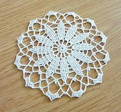 Materiál ručne robený - Okrúhla biela, ø15 cm - 10470565_