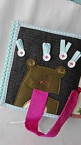 Hračky - Quiet book strana žaba mucholapka - 10471172_