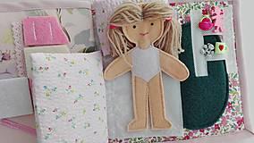 Hračky - Quiet book, strana izba pre bábiku - 10471193_