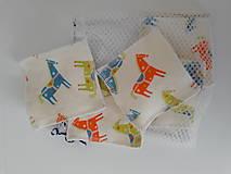 Úžitkový textil - Sada odličovacích tampónov 7 ks *Koník* - 10468058_
