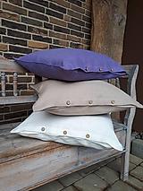 Úžitkový textil - Obliečka na vankúš Simply Fresh (biela 40x40 cm) - 10470551_