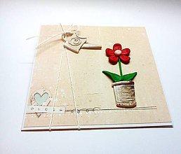 Papiernictvo - Ako sa starať o kvet ... - 10473542_