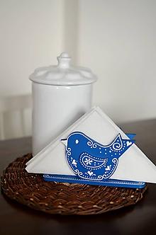 Dekorácie - Modrý stojan na servítky - 10475101_