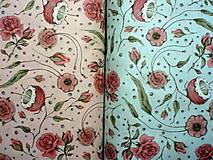 Textil - Bavlna Curiosity Mirabelle Floral Teal - 10471823_