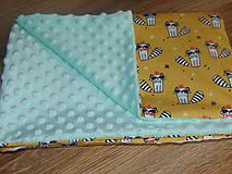 Textil - Detská deka s minky - 10473130_