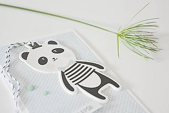 Papiernictvo - Pozdrav pre deti - panda - 10474263_