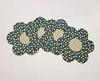 Úžitkový textil - Podšálky  kvetinka - 10474368_