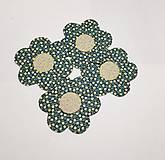 Úžitkový textil - Podšálky  kvetinka - 10474369_