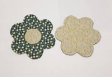 Úžitkový textil - Podšálky  kvetinka - 10474371_