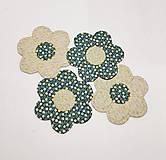 Úžitkový textil - Podšálky  kvetinka - 10474373_