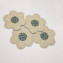 Úžitkový textil - Podšálky  kvetinka - 10474341_