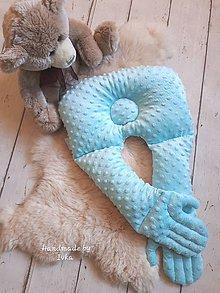 Textil - Viacúčelový vankúš s rukami : tyrkysový - 10475242_