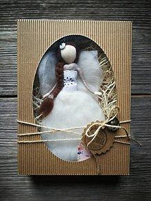 Dekorácie - Anjelinka v darčekovom baleni - 10473464_