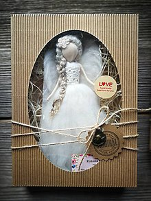 Dekorácie - Anjelinka v darčekovom baleni - 10473472_