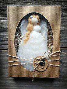 Dekorácie - Anjelinka v darčekovom baleni - 10473489_