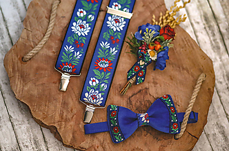 Doplnky - Vianočná akcia: Luxusný zamatový folk motýlik - 10475225_
