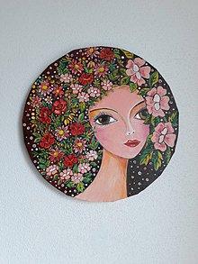 Obrazy - Obraz, Žena Ada, priemer 30 cm - 10474705_
