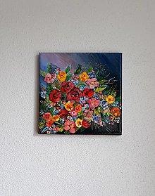 Obrazy - Pestré kvety, 20 x 20 cm - 10474747_