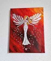 Obrazy - Obraz, Anjel lásky, 18 x 24 cm - 10474839_