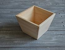 Polotovary - drevené kvetináče - menšie - 10473242_