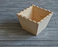 Polotovary - drevené kvetináče - menšie - 10473245_