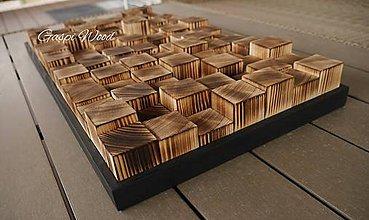 Dekorácie - Drevený 3D obraz - mozaika - 10474456_