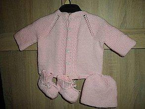 Detské súpravy - Novorodencká súpravička pink - 10472418_