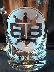 Iné doplnky - Pieskované pivové krígle,,BB