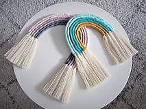 Detské doplnky - Makramé závesná dekorácia RAINBOW - 10472398_