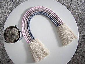 Detské doplnky - Makramé závesná dekorácia RAINBOW (Veľkosť B) - 10472433_