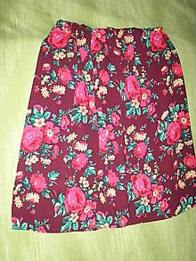 Sukne - Kvetinková sukňa - 10473549_