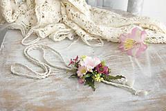 Náhrdelníky - Kvetinový náhrdelník ,,ružový,, - 10472334_