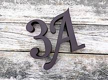Popisné číslo: Samostatné číslice Elegant