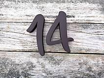 Tabuľky - Popisné číslo: Samostatná číslica Modern (10 cm) - 10474779_