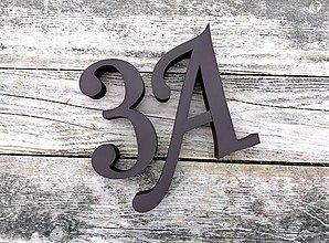Tabuľky - Popisné číslo: Samostatné číslice Elegant (15 cm) - 10474751_