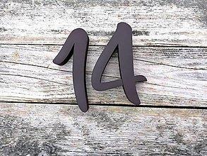 Tabuľky - Popisné číslo: Samostatná číslica Modern (15 cm) - 10474779_