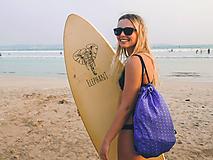 - Modrý brokátový batoh/ruksak s ornamentom VINITHA 10  - 10473465_
