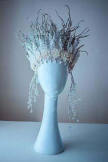 Ozdoby do vlasov - Ľadová korunka - 10471935_